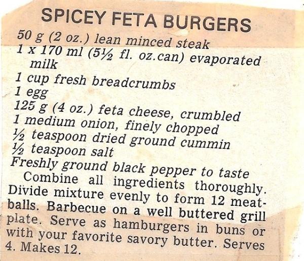 Spciy Feta Burgers