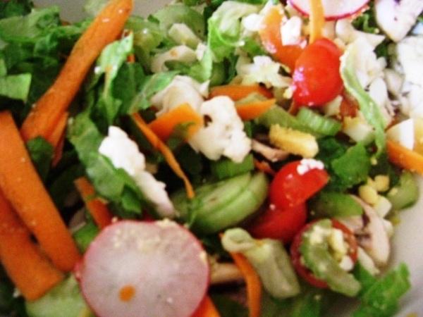 Salad + Dessing  = Delicious!