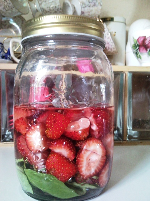 Strawberry Basil Liqueur