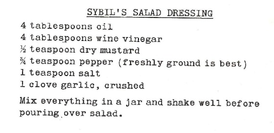 Sybil Burton Christopher's Salad Dressing 001