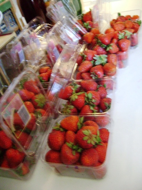Strawberries Waiting To Be Sorted