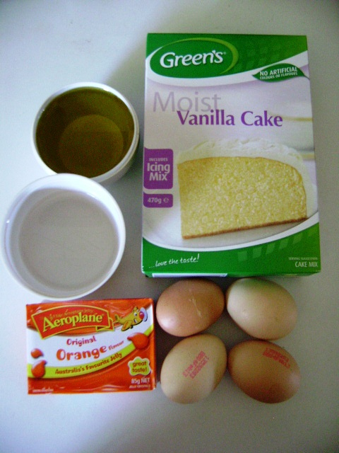 Orange-Lemon Cake Ingredients