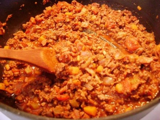 Simmering Bolognese Sauce