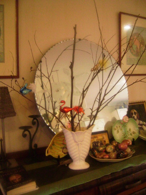 Bird and Twig Vase
