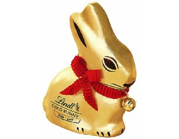 Chocolate Bunny red ribbon
