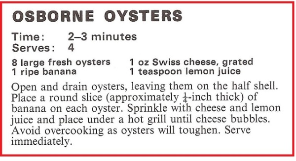 Osborne Oysters Recipe
