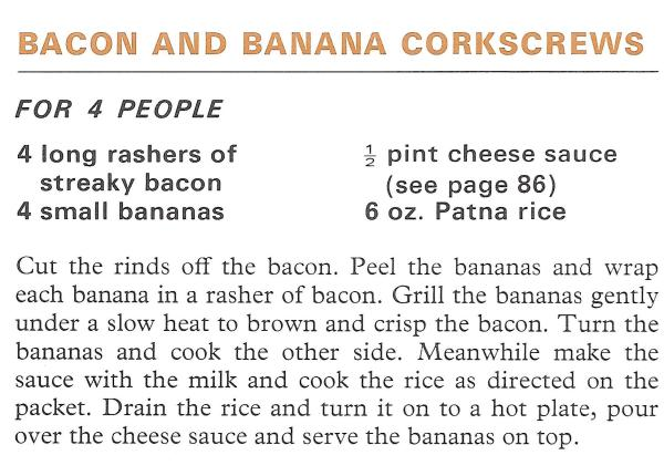 Bacon and Banana Corkscrews