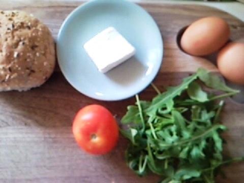 Televison Eggs With Rocket, Feta and Tomato