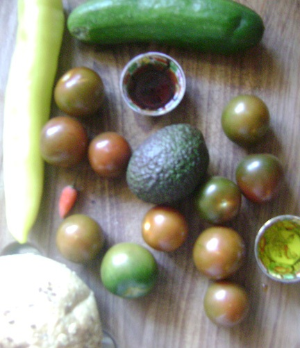 Green Gazpacho ingredients