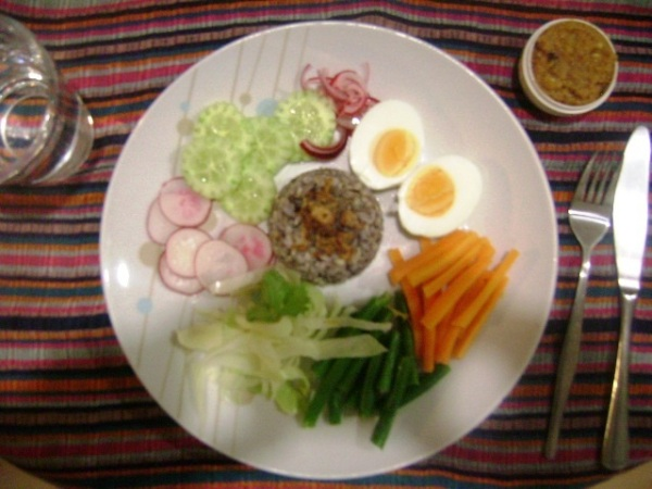 Balinese Rice with Peanut Sauce