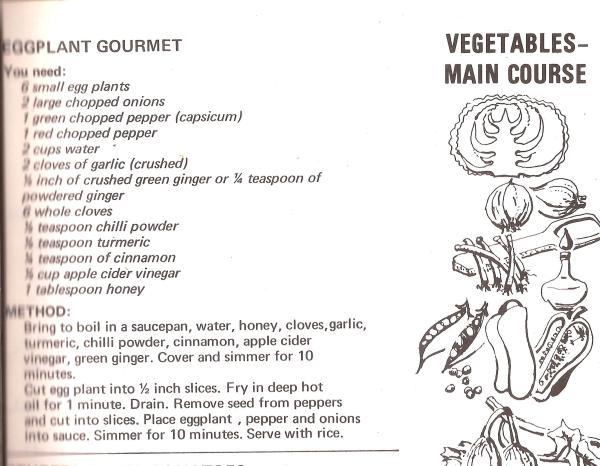 Eggplant Gourmet Recipe