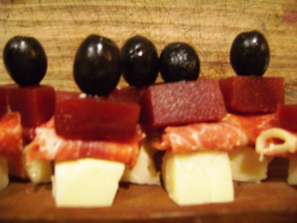 Spanish Men - olives, quince paste, serrano ham and manchego cheese