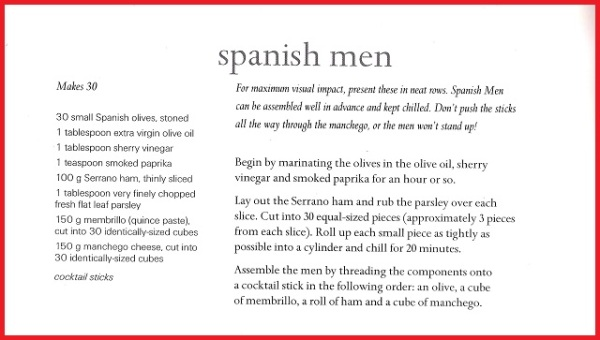 Spanish Men Recipe