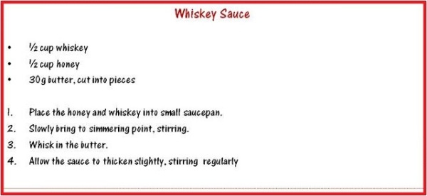 Whiskey Caramel Sauce Recipe
