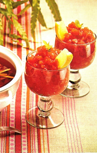 Tomato Consomme. Taken from Woman's Day All Colour Book of Cooking for Slimmers (1978)